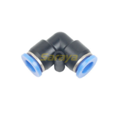 CONECTOR UNION CODO TUBO 6MM PLAST.